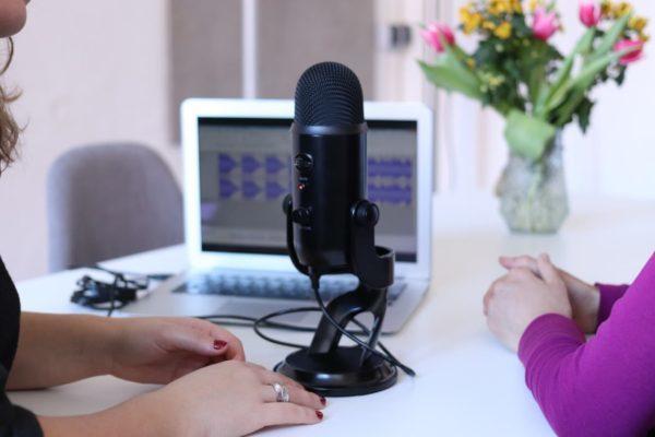 Photo prise lors de l'enregistrement d'un podcast
