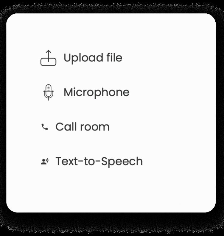 Capturez du contenu avec l'enregistrement vocal, la transcription automatique, le générateur de voix grâce à l'IA de LiLiCAST